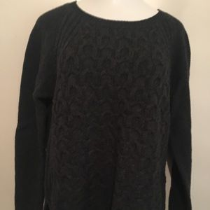 Max Studio dark grey sweater with side slits. XL